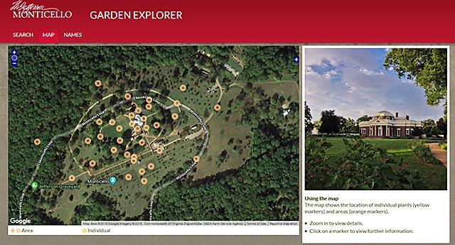 Monticello Garden Explorer